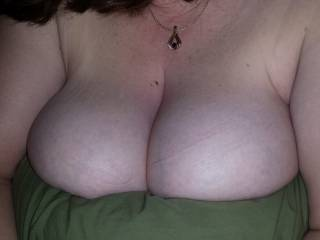 Wife teasing the goodies. You like?