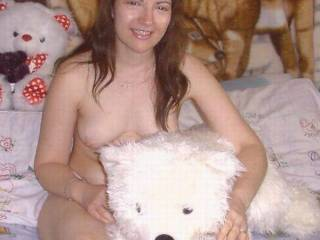 nice bear....but i'm looking at your beautiful breasts even more mmmmmm