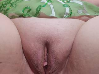 Freshly shaved and ready to play