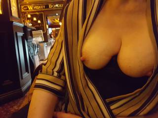 A bit of flashing in a well known Belfast bar .