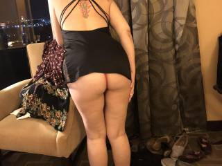 he caught me bending over again.  I think he is and just waits for the opportunity.  It is a pretty nice ass, don't you agree.  If you had the choice, would you rather cum in my ass on on it?