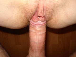 Oh!!!! That is a fucking great pic! Great cock and lovely pussy