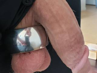 Wife likes it when I wear the weights and do her doggy style, it slams her clit