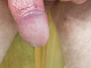 my cock fresh oiled