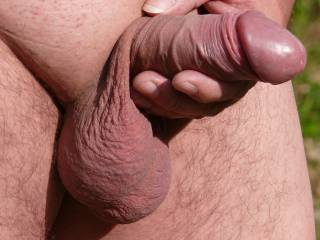 Outdoors testing masturbation in the sun, someone want a taste ?