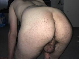 Boy showing hairy ass