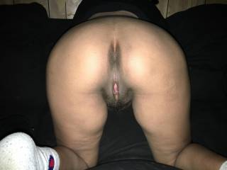 Wow. That is an amazing ass... lucky to have her knocked up with my seed... my pull out game is weak on this one