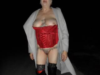 hi all I dont know why but it is so refreshing to walk down the road with very little on, what do you think? dirty comments welcome mature couple