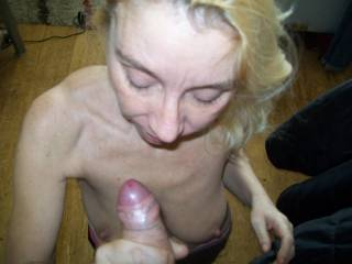 just about to cum on my face. I cant get enough spunk