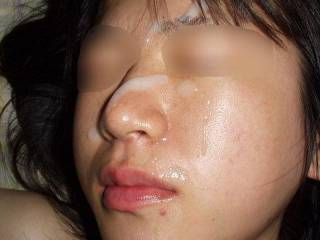 She\'s resting with a load on her face after a good morning fuck session.  You want to add some cum to her face?