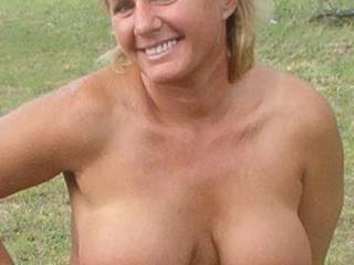 showing my tits