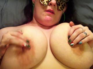 You make some sexy noises whilst getting those pretty nipples properly tugged on!  I like very much....