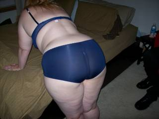 Lupo's wife bending over the bed before we got down to fucking and sucking while her cuckold hubby watched
