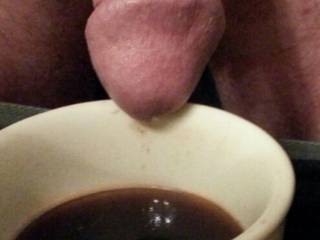 Cream for her coffee