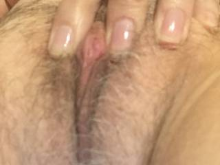 what sweet blis to run my tongue through  your bushy pussy till my tongue dances upon your sexy hard clit.
