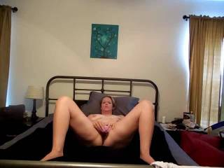 Here is another toy that hubby just got me. It looks small but it is actually wide so it stretches and fills my pussy really good