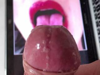 tribute for my friend @eveline as requested by her, she kept me an hour with my cock hard as a rock until she told to cum on this picture. she made me soooo horny this is the final result. BIGGEST CUMSHOT EVER. i even hit the wall with my cum shoot!!