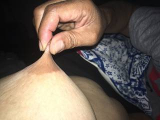 nipple stretching