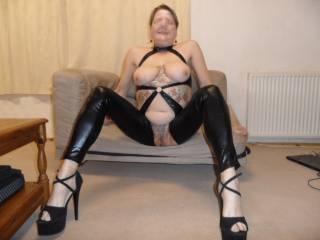 Hi all I must admit I do like the feel of tight PVC on my skin is this view ok for you dirty comments welcome mature couple