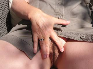 Wife gonna play with her pussy outdoor xxx