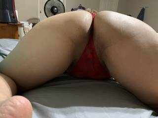 It's such a hard decision when my wife assumes this position.. its always do lick it or fuck it!? I usually lick it right before I stick my dick in… loosen that pussy up and get it nice and wet!