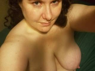 Just showing off my tits. Anyone want to play with them?