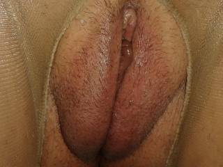 Wifes tender pussy lips after pumping them , they need sucking