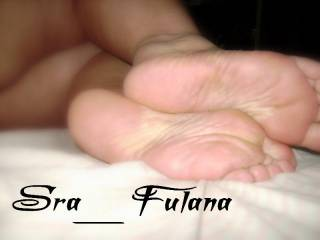 The soles of my feet!!!