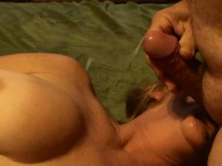 Frame six of eight of me blasting a shot of cum about 3 feet to my girlfriends knees while she is sucking and tugging on my balls. Hadn't seen her for a week and I was backed up to say the least. Do you like to see the cum fly????