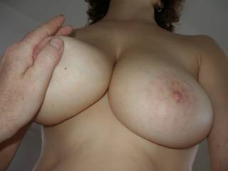 Great rack, would love to stick my cock between them till I paint yor face white