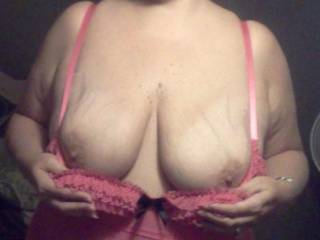 Would enjoy running my COCK all over those Beautiful Tits. Great pic.
