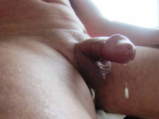 playing, getting hard and excited; dripping precum