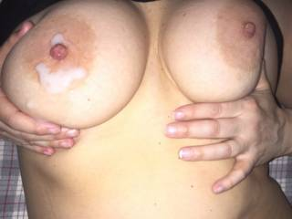 Only thing that could make those tits look any sexier is a load of thick hot cum...I would love to suck every drop off your round firm tits