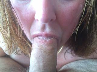 Wife sucking amazing cock. She takes the whole thing