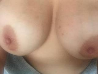 Another pic of my wife's beautiful tits