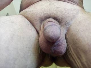Soft cock and saggy balls