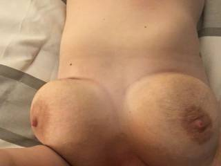 Who's ready to blow on these tits? I bet I could lick your load off of them too.