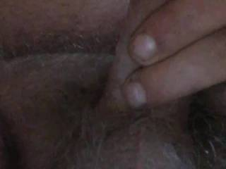 Jacking off above the phone with a big cum shot