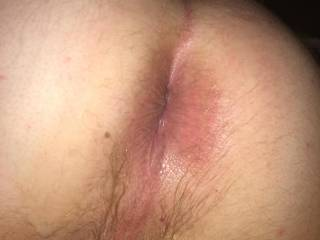 My friend who ive been trying to hook up with a couple years now just licked my ass and fucked me after walking in on me beating my cock