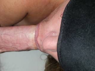 The mrs giving me an amazing blow job
