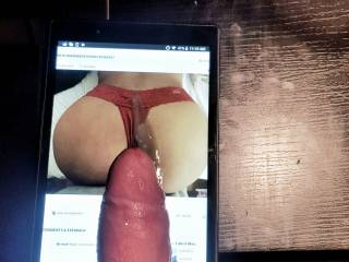 SexyAsianWife85's sexy ass getting a cum tribute