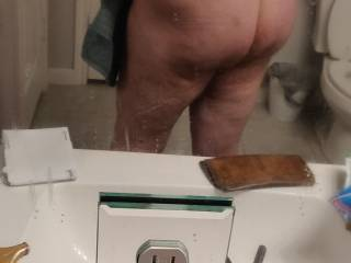 Feeling sexy after shower.