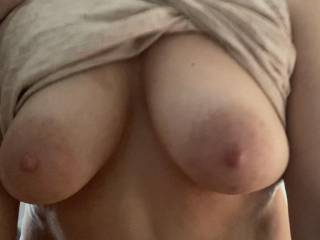 Tell her what you think of her sexy tits!!