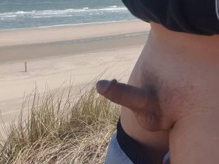 I had to let my cock out while jogging near the beach.