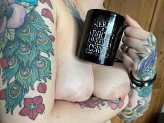 """""""Nerdy, dirty, inked and curvy"""" :p  Gift from a friend Xx"""