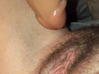 A new neighbor came by to fuck this cunt ended up in my ass, he wouldn't fit yet.