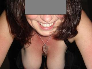 Great tits and smile!  I'd love to suck and nibble on those nipples1