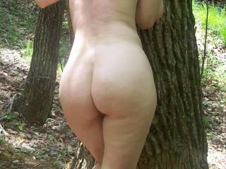 hmmm gorgeously round butt and all woman! what tree was that? will you be there next time...? lol