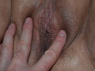 New lady from another site came to my hotel.  I explored the new pussy before eating, fingering & fucking her.  I love squirters & she soaked the bed then went home with my cum dripping down her legs.