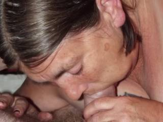 getting down to the base of his cock as he is getting ready to cum . would you like to join in some time ?.
